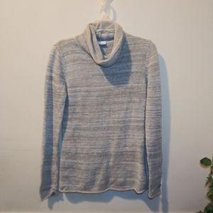 VGUC Columbia Gray & White Marled Sweater